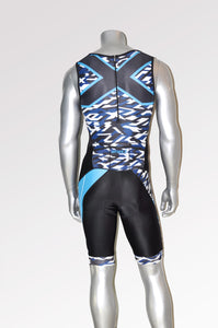トライスーツ(リアジップ)Perform Rear Zip Sleeveless Trisuit  Blk/Xcb [メンズ] MX4695dBXCB