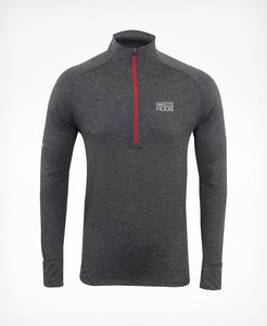 Tシャツ ロングスリーブ DS Training Long Sleeve Top with Half Zip - Dark Grey/Black/Red [メンズ] TDSZIP HBMR18252 - STYLE BIKE ONLINE SHOP