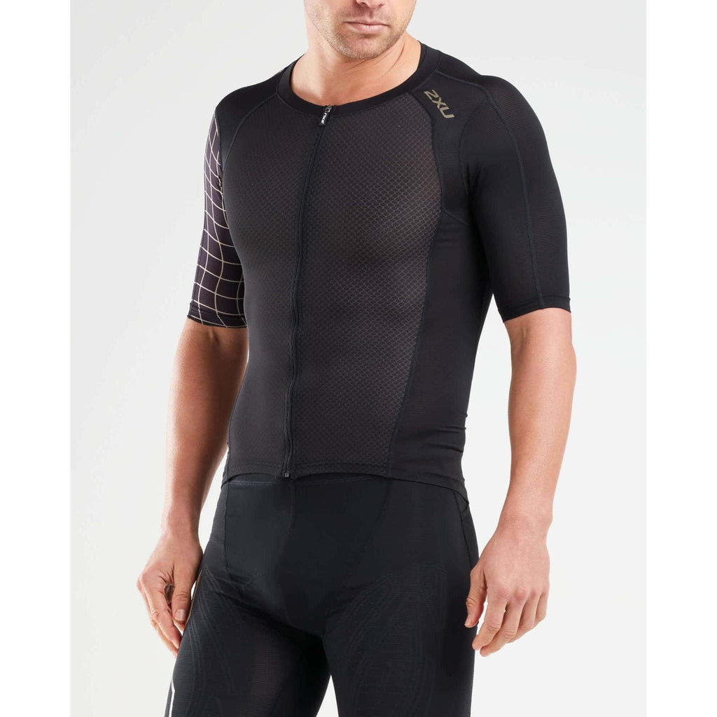 2XU ツータイムズユー トライトップ MT5518ABGLD BLK GLD COMPRESSION SLEEVED TOP メンズ1