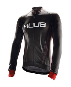 バイクジャージ Core Cycling Long Sleeve Thermal Jersey - Black / Silver / Red [メンズ] HBMC19603