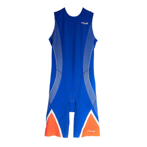 トライスーツ リアジップ Japan Limited Elite Triathlon Suit Rear Zip - Blue/White [メンズ] HBMT19054