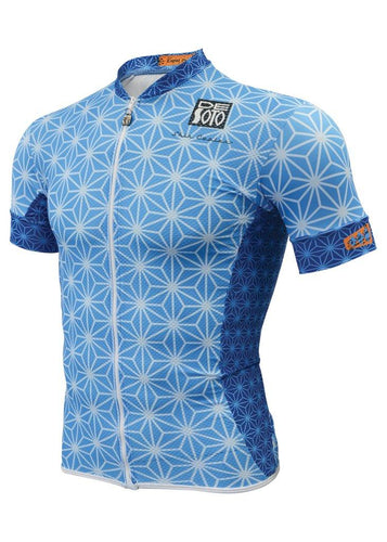 トライスーツ トライトップ Skin Cooler Full Zip Triathlon Top - Short Sleeve - Blue Sparkle [メンズ] FVSCblu-spkl - STYLE BIKE ONLINE SHOP