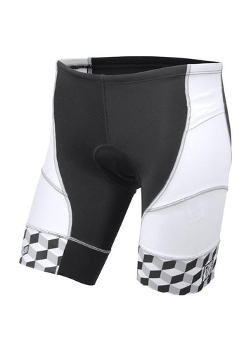 トライスーツ トライショーツ RIVIERA Triathlon Short - White/Grey Cube Leg Band [メンズ] RTS3gry-cube - STYLE BIKE ONLINE SHOP