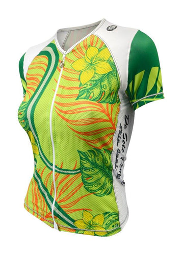 トライスーツ トライトップ Femme Skin Cooler Triathlon Top - Short Sleeve - Fern Frond [レディーズ] WFVSC1frond - STYLE BIKE ONLINE SHOP