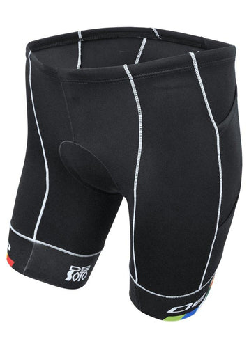トライスーツ トライショーツ MOBIUS Triathlon Short 4 Pocket - Black/DeSoto Leg Band [メンズ] MTFblkds - STYLE BIKE ONLINE SHOP