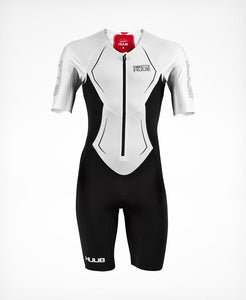 トライスーツ DS Long Course Tri Suit - White / Red / Black [メンズ] DS19LCSWR HBMT19003