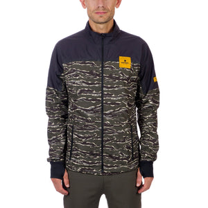 ランニングジャケット Tiger Pace Jacket - Forest Tiger / Caviar Black [ユニセックス] CMRJA03