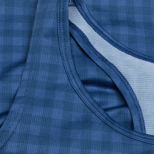 レースシングレット Wmns Checker Combat Singlet - BLUE CHECKERBOARD [レディーズ] FGRSI01