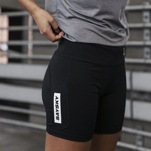 ランニングタイツ Wmns Short Eco Pace Tights - BLACK [レディーズ] FGRST01