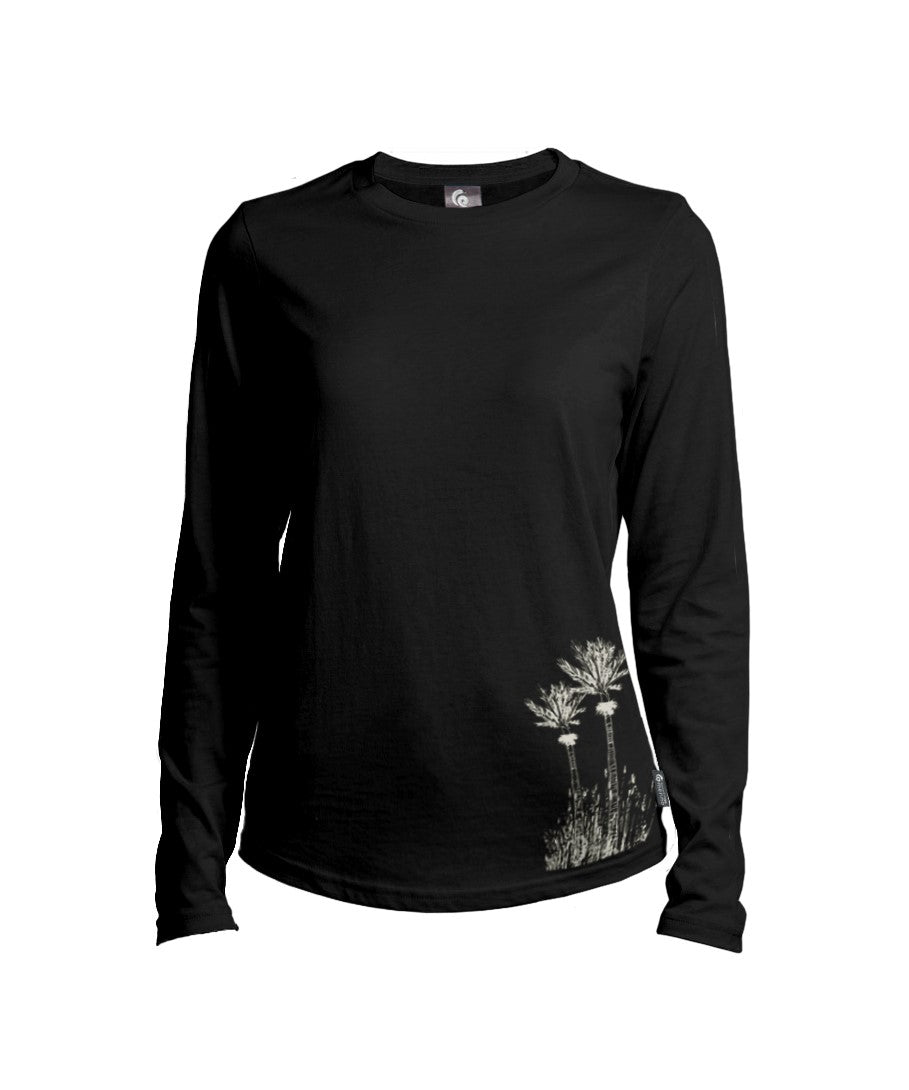 Merino Ladies Long Sleeve Nikau Tee. Made in New Zealand