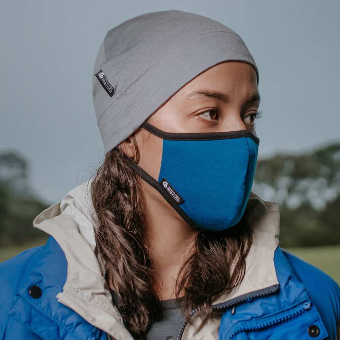 Merino Face Mask with HELIX.iso Filter. Made in New Zealand