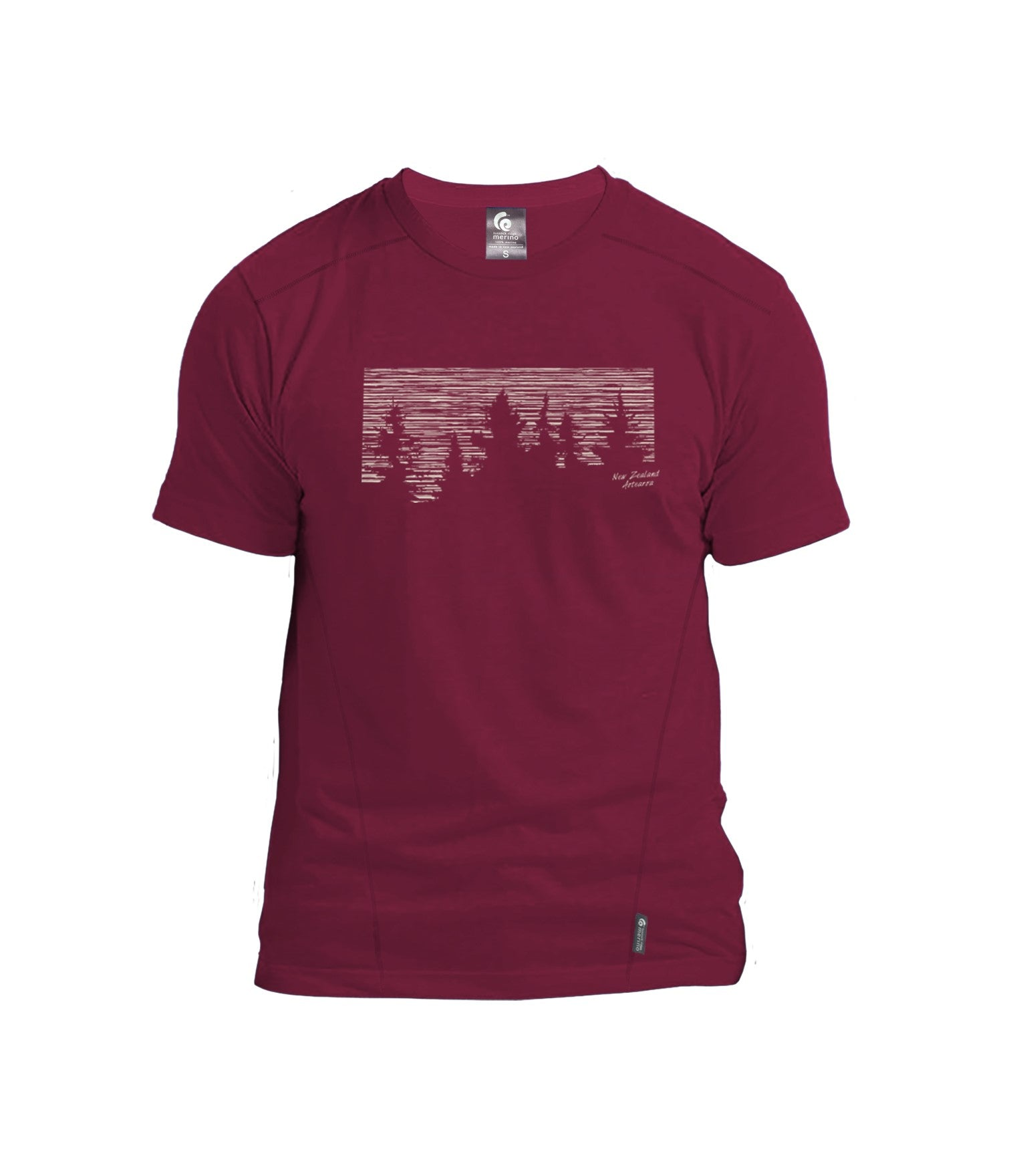 Merino Men's Forest Tee. Made in New Zealand