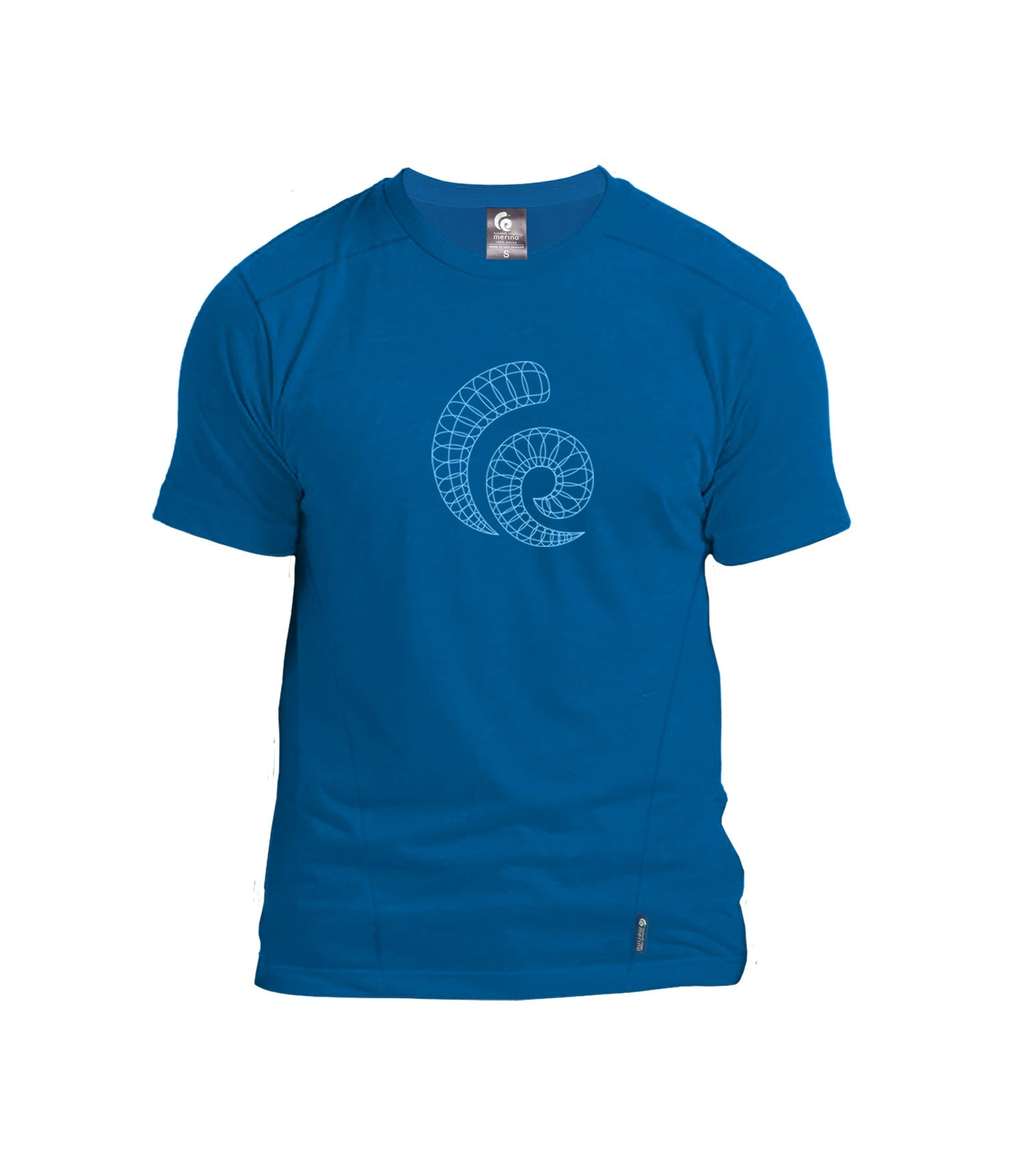 Merino Men's Horns Tee. Made in New Zealand