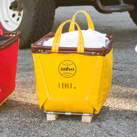 Steele Canvas storage tote - yellow, 1 bushel