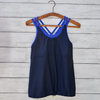 Sarah tank - navy w/royal blue straps