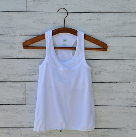 Christina top - white w/green logo
