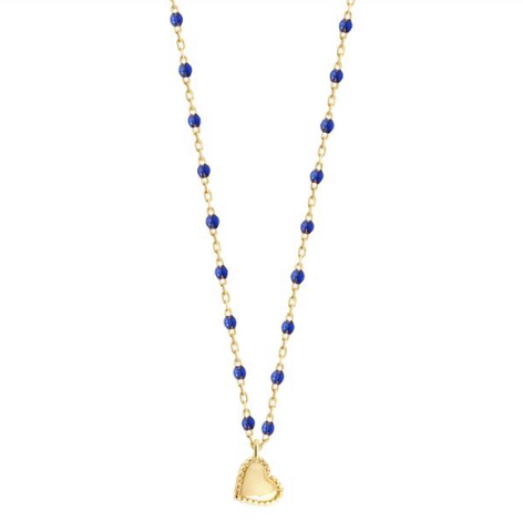 Mini gigi Lucky Heart Necklace Blue