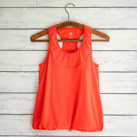 Anna tank (lite) - orange w/white logo