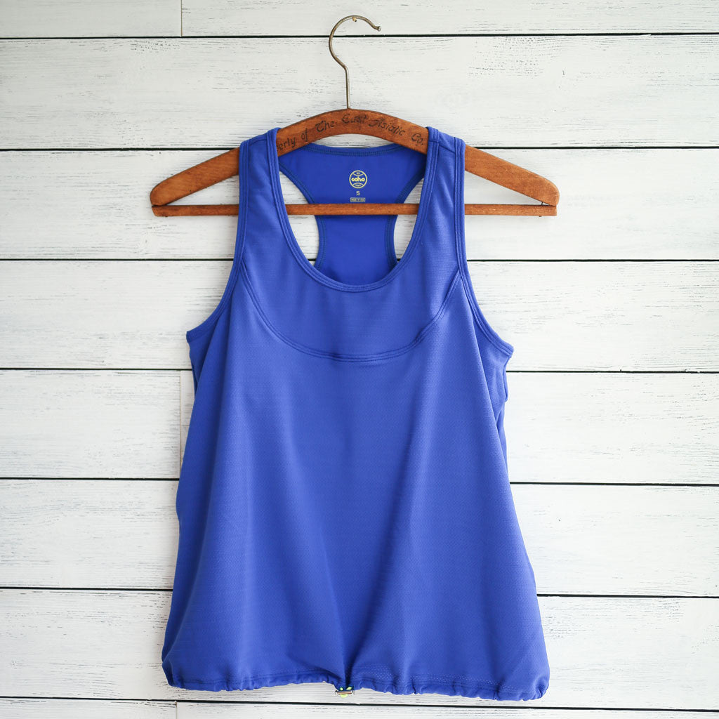 Anna tank (lite) - royal blue w/yellow logo