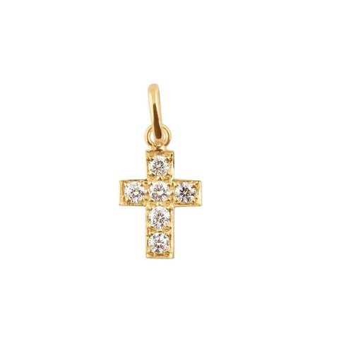Gigi Clozeau Diamond Cross Pendant