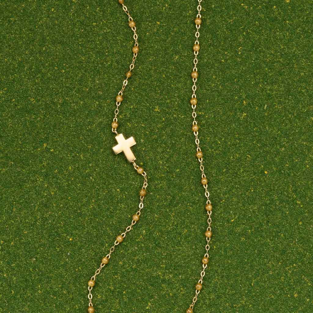 Gold Cross Necklace by Gigi Clozeau