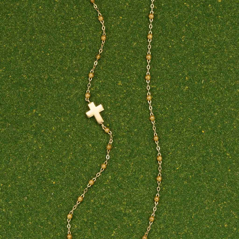 Gigi Clozeau Gold Cross Necklace