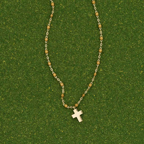 Gigi Clozeau Gold Dangling Cross Necklace