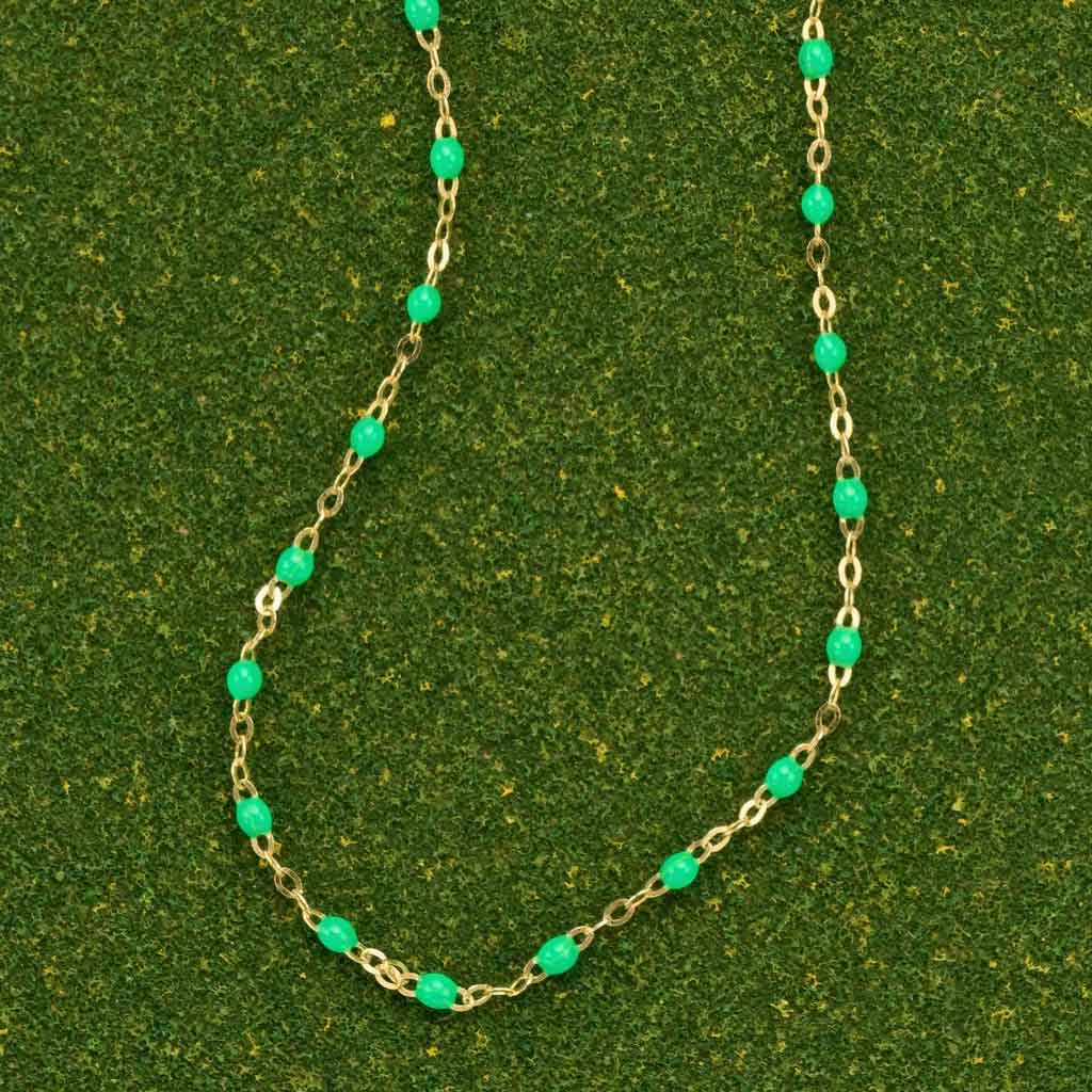 Neon Green Necklace by Gigi Clozeau
