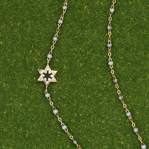 Grey Star of David Necklace by Gigi Clozeau