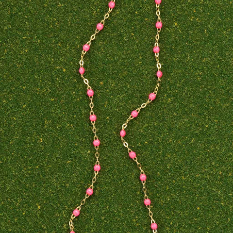 Hot Pink Necklace by Gigi Clozeau