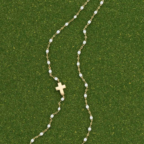 Gigi Clozeau White Cross Necklace