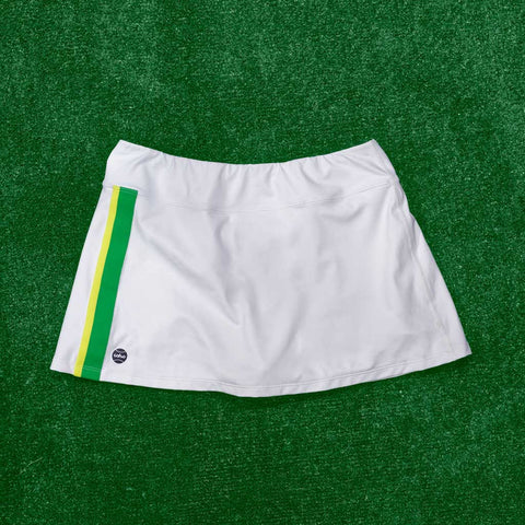 Molly skort - white/green/yellow