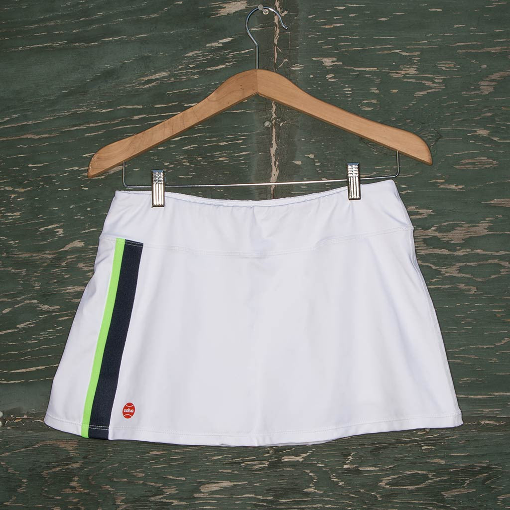 Molly skort - white/navy/chartreuse