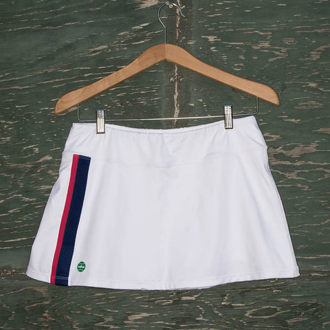 Molly skort - white/navy/pink