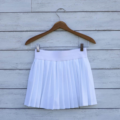 Poppy tennis skort - white
