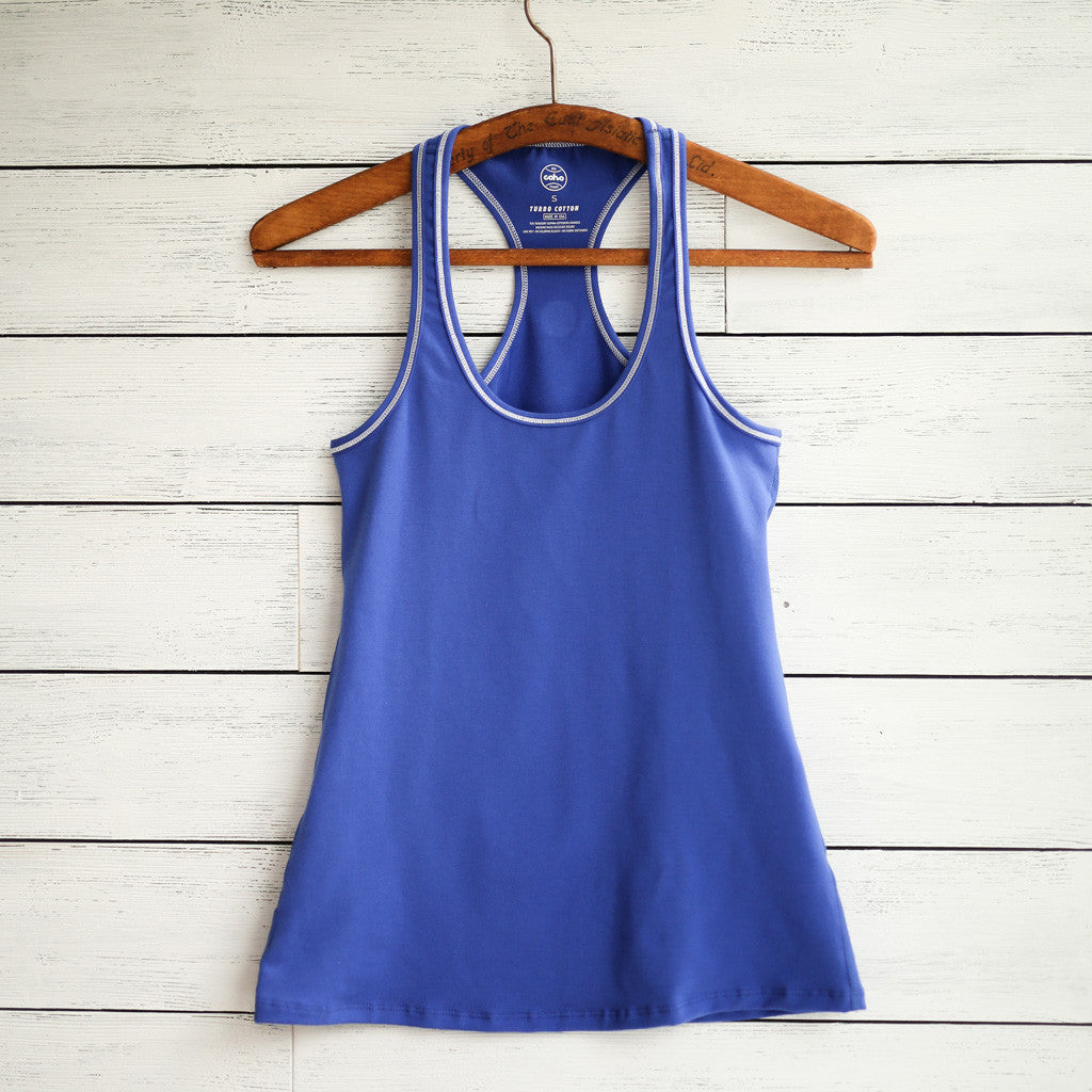 Practice tank - royal blue w/white logo