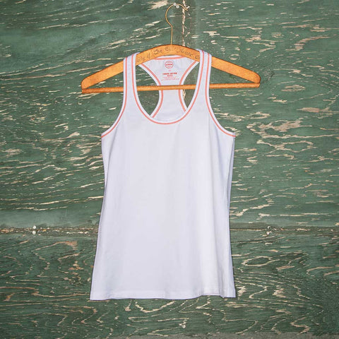 Practice tank - white w/orange logo