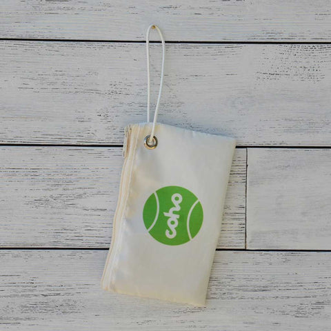 Sea Bags wristlet - white w/green logo