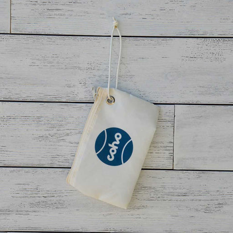 Sea Bags wristlet - white w/navy logo