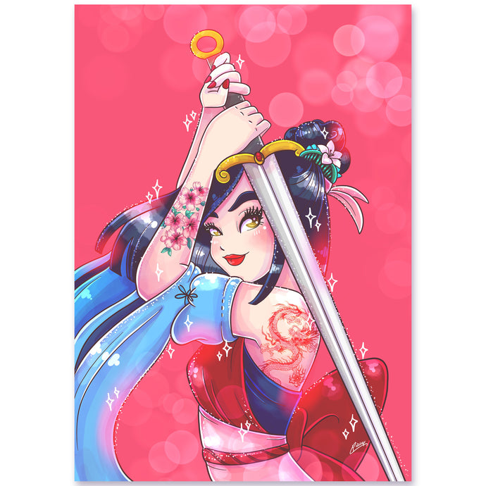 Print Mulan Warrior (A5)