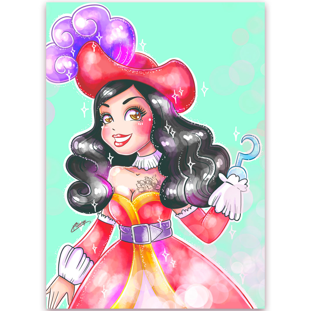 Print Lady Captain Hook (A4)