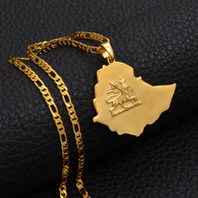 Load image into Gallery viewer, Ethiopian Map Necklace Jewelry!
