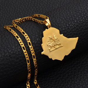 Ethiopian Map Necklace Jewelry!