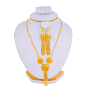 Ethiopian Dubai Gold-Plated Jewelry Set!