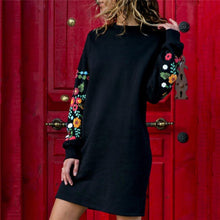 Load image into Gallery viewer, Women Long Sleeve Mini Dress!