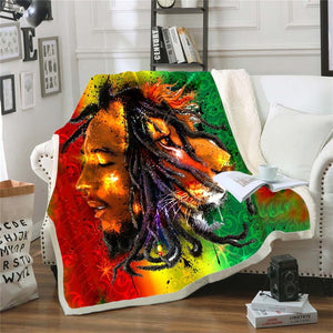 Bob Marley Reggae Throw Blanket!