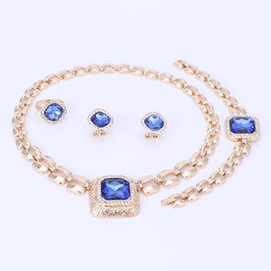 Crystal Gold Jewelry Set for Women!