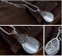 Load image into Gallery viewer, Silver Vintage Water Drop Earrings and Necklace!