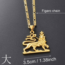 Load image into Gallery viewer, Ethiopian Lion of Judah Necklace!