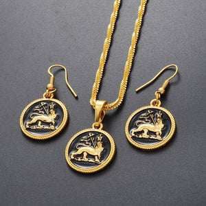 Ethiopian Lion of Judah Jewelry Set For Women!